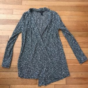 Sweaters - Black, white & Gray Marbled Cardigan/Shrug